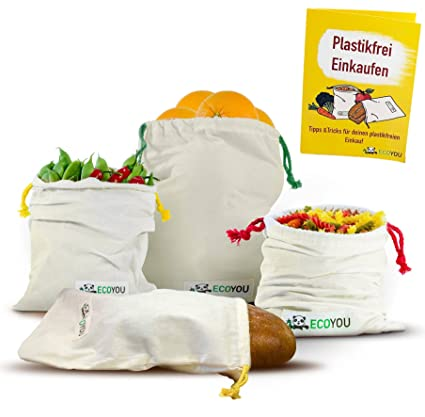 EcoYou - Bolsa para Frutas y Verduras, de algodón ecológico ...