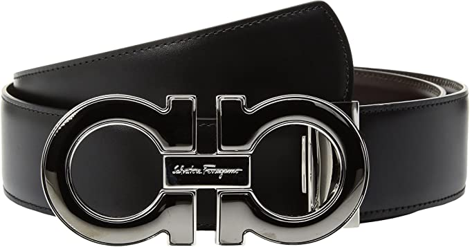 Real Ferragamo Belt >> Amazon Com Salvatore Ferragamo Men S Mini Big With Metallic Enamel