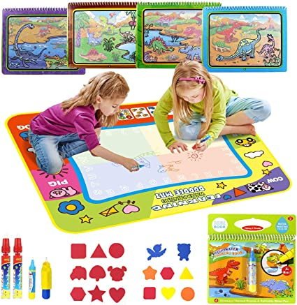 Amazon Com Coolplay Colorful Water Drawing Mat With 5 Water Pens