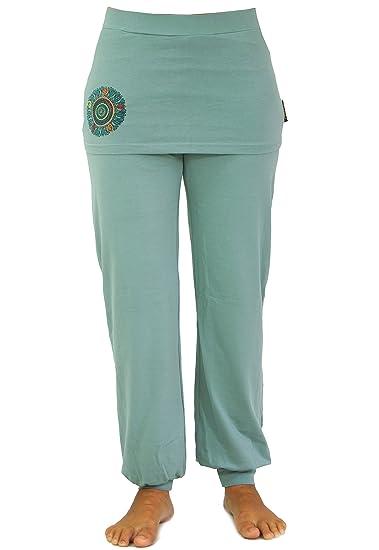 c9058418b5 GURU-SHOP, Yoga Trousers with Mini Skirt, Mandala Print, Aqua, Cotton,  Size:XXL (18), Shorts and 3/4 Trousers, Leggings: Amazon.co.uk: Clothing