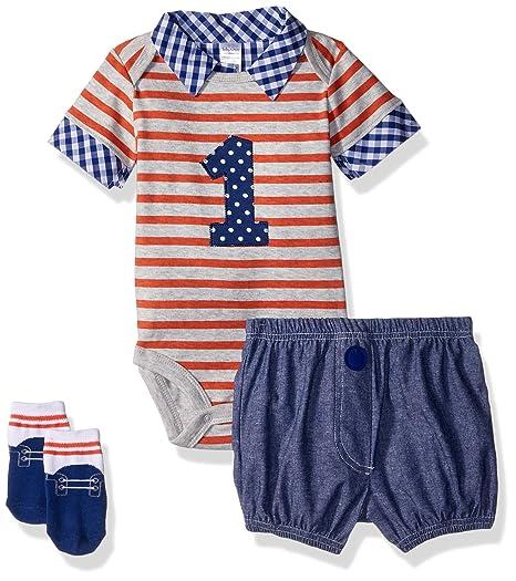 Baby Aspen Mi primer cumpleaños de 3 piezas de vestimenta ...