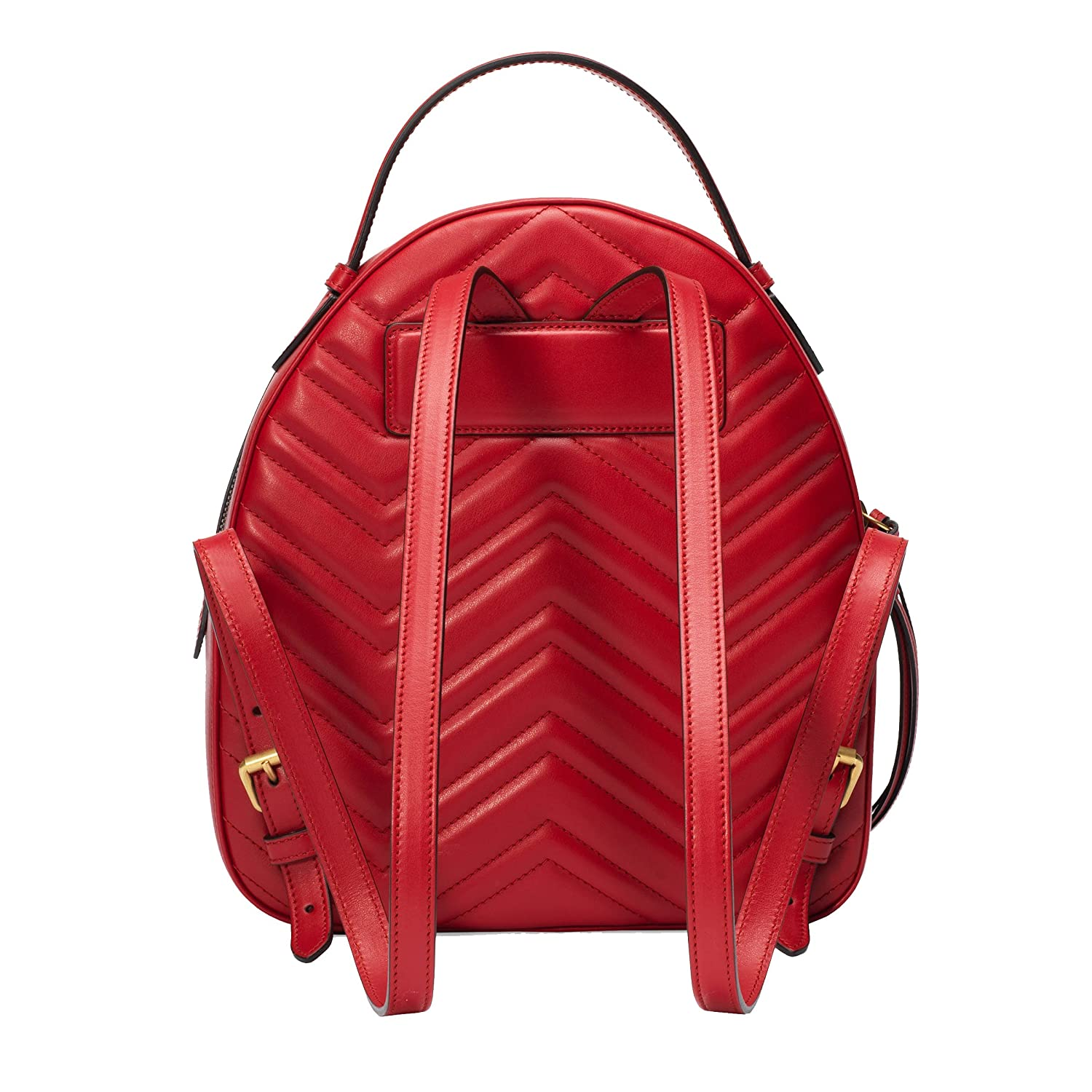 436b33ffec9 Gucci Women s 476671DTDHD6433 Red Leather Backpack  Amazon.co.uk  Clothing