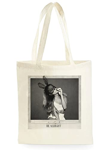 f2570b428e7f UKPRINTKING Cool Ariana Grande Be Alright Poster Shopping Canvas Tote Bag  Ideal Gift Present: Amazon.co.uk: Shoes & Bags