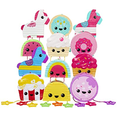 Piñata Fiesta Mini Collectible Piñatas Bursting with Surprises! (Assorted) 12 Super Adorable Designs to Collect! Which One Will You Get? for Kids Ages 4+: Toys & Games