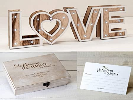 Momparler1870 Pack *Love* Ideal Bodas - Decoración Cartel ...