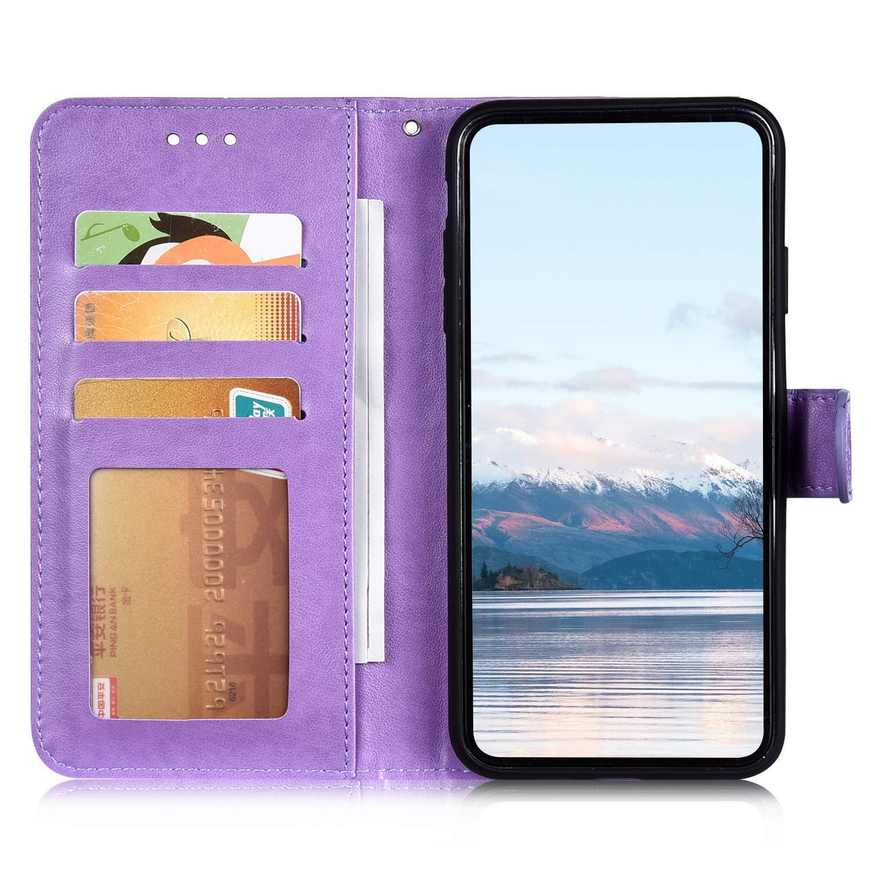 Saceebe Compatible avec iPhone 7 Plus//iPhone 8 Plus Coque Housse en Cuir Pochette Portefeuille Etui Luxe 3D Motif Mandala Fleur Coque Housse de Protection /à Rabat Magnetique Flip Cover Stand,Gris