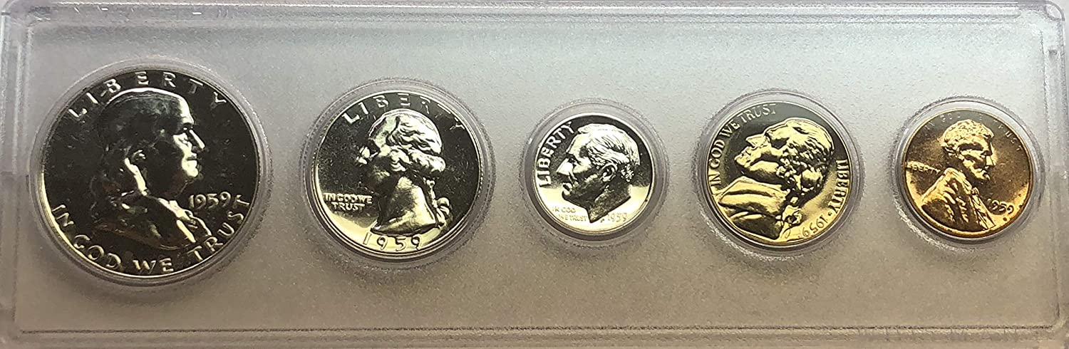 1959 P US MINT Proof set Comes in Hard Plastic Case Proof