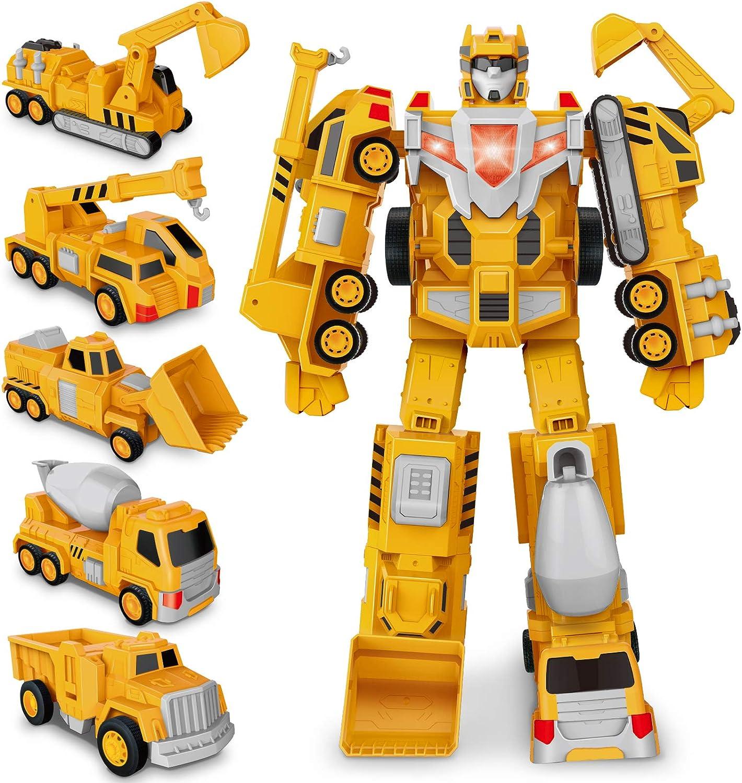 Construcción Ensamblar Juguete - Transformers Robot Camión y Coche Inercia, Juguetes de Muchacho Construcción de Juguete de Regalo para Niños de 6-14 Años de Edad