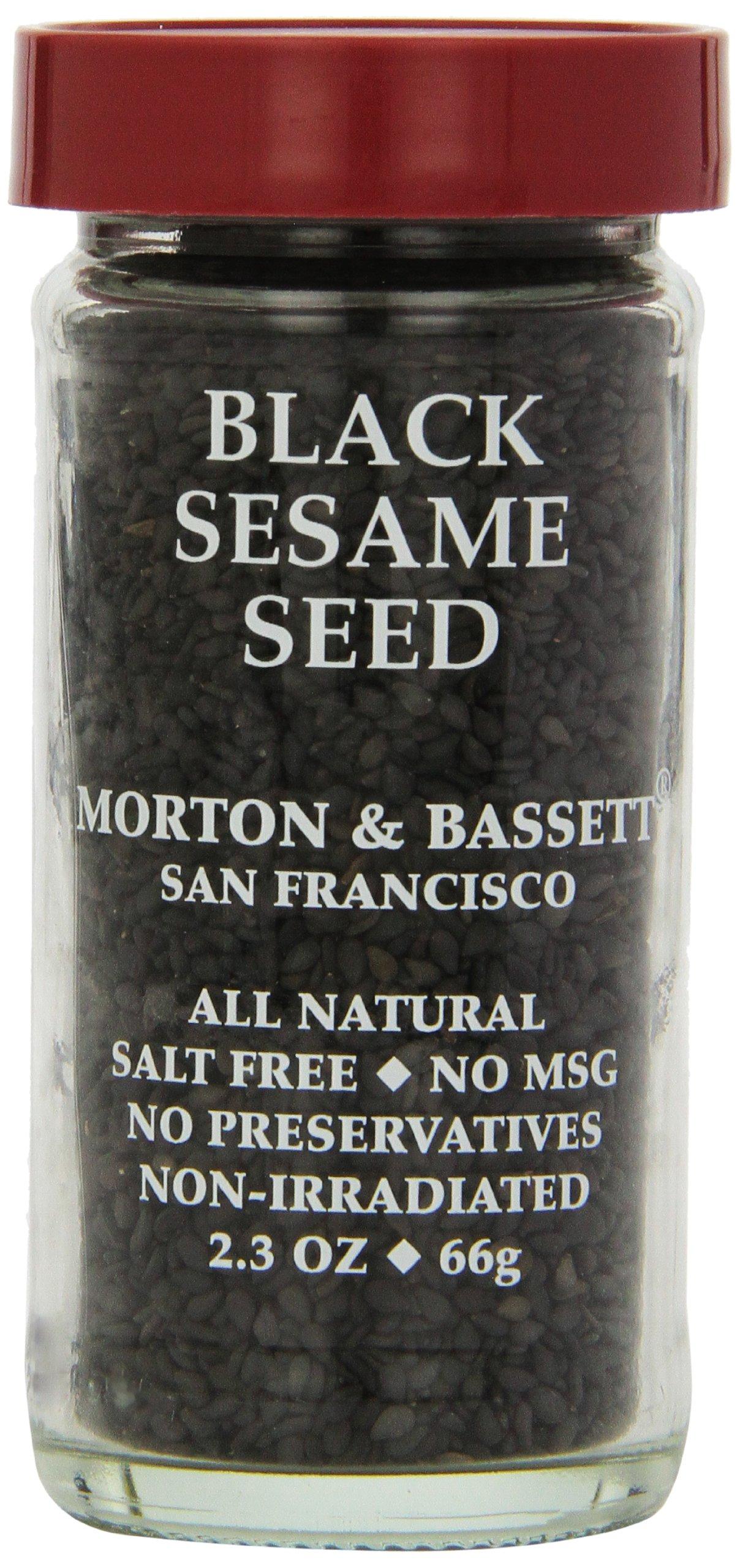 Morton & Bassett Black Sesame Seeds, 2.3-Ounce Jars (Pack of 3)