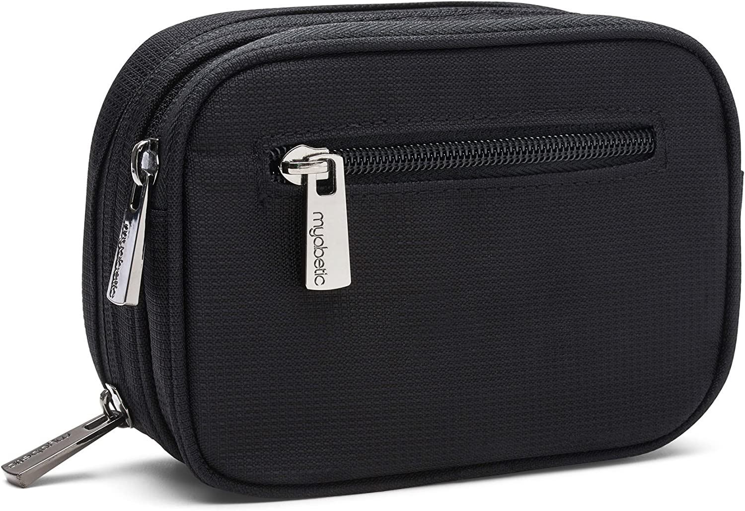 Myabetic Clark Diabetes Supply Case for Glucose Monitoring Tools, Includes Insulation Lining - High Quality Material (Black): Health & Personal Care