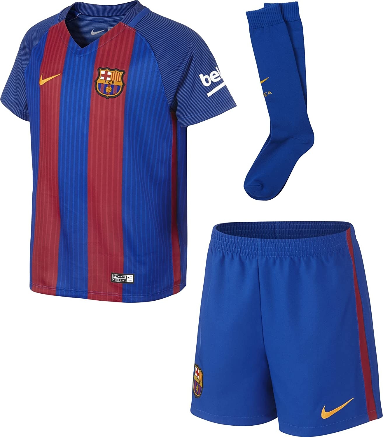 info for a3bdf 0901a Nike 2016-2017 Barcelona Home Little Boys Mini Kit