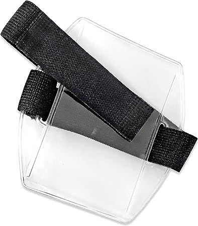 Amazon.com: 25pcs – Pulsera ID Badge Holder con negro correa ...
