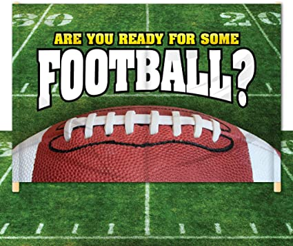 Amazon Com Victorystore Breakaway Football Banner 8 Feet X 12 Feet Are You Ready For Some Football 2 Sports Fan Outdoor Flags Sports Outdoors