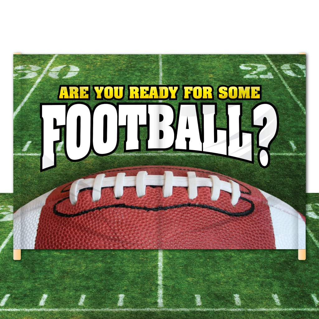 Breakaway Football Banner - 6' x 12' – 'Are You Ready for Some Football?' #2 by VictoryStore