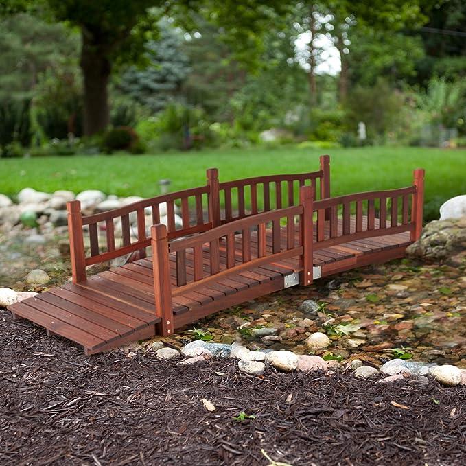 Beautiful, diseño clásico y resistente Richmond 8-ft. Jardín puente con rieles de tradicional – requiere montaje: Amazon.es: Jardín
