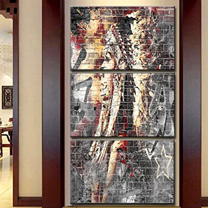 Amazon.com: Modern Abstract Painting on canvas 3 piece for Living ...