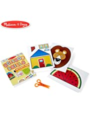 Melissa & Doug Scissor Skills Activity Book, Animal & People Play Set, Pair of Child-Safe Scissors Included, 20 Pages, 28.575 cm H x 20.955 cm W x 1.27 cm L
