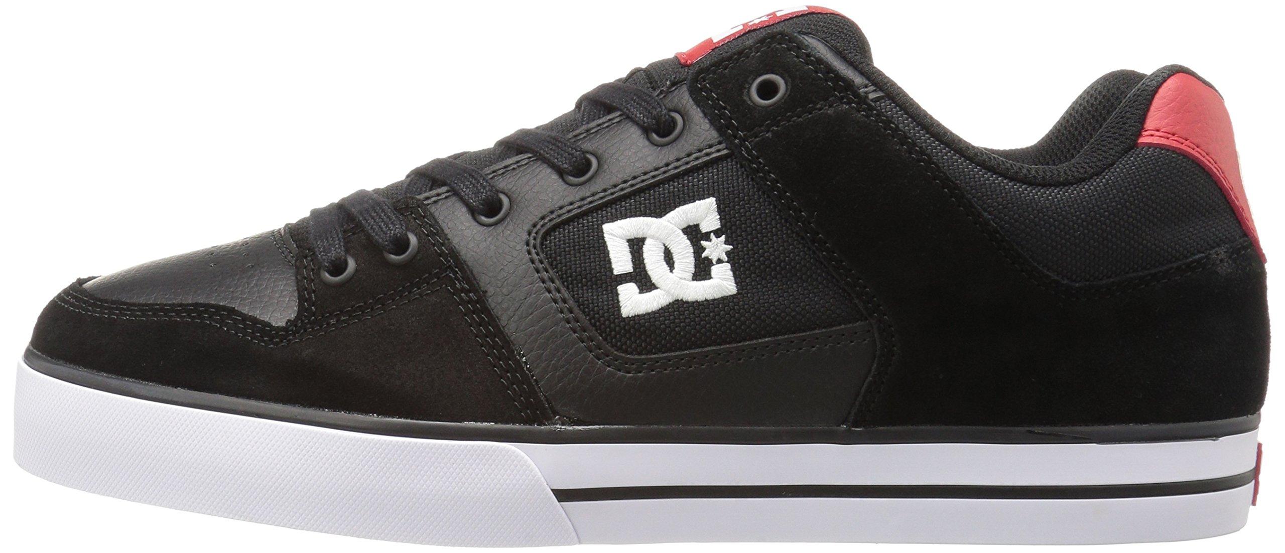 DC Shoes Mens Shoes Pure - Shoes - Men - 9.5 - Black Black/Athletic Red 9.5 by DC (Image #5)