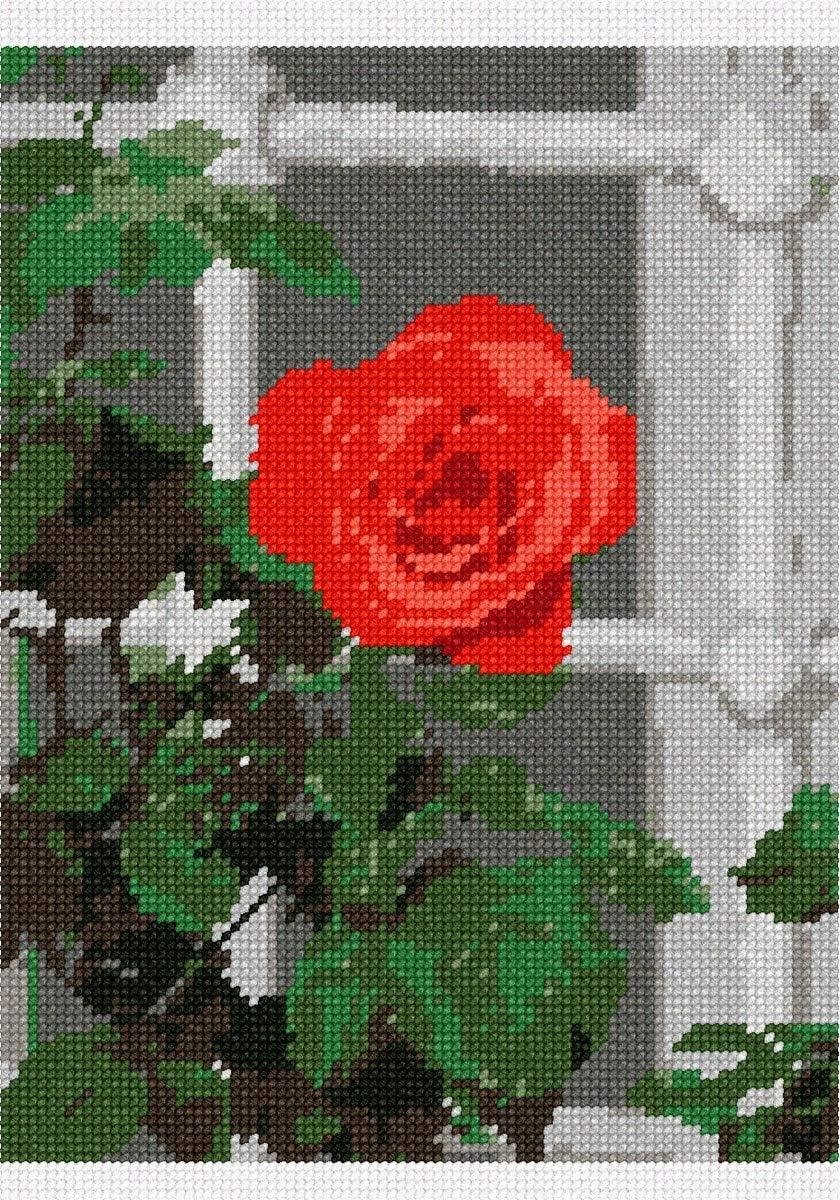 pepita Open Rose by The Window Needlepoint Kit