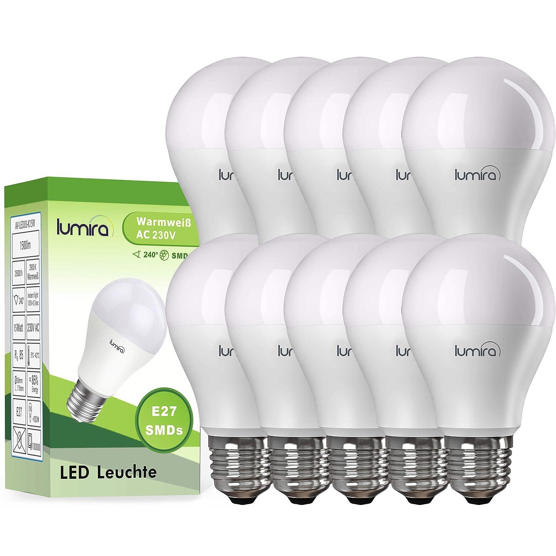 LUMIRA LED E27 Lampe ersetzt 100 W Glühlampe, 15 Watt warmweiß (2900 ...