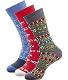 1Sock2Sock Men's Christmas Socks Gift Box (3-Pack)   Soft Cotton Blend Made with Premium Turkish Cotton
