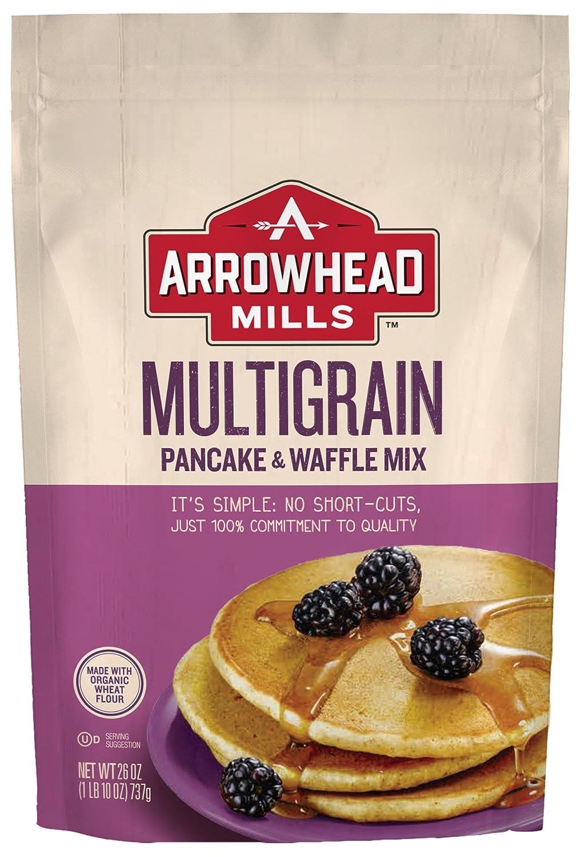 Arrowhead Mills Multigrain Pancake and Waffle Mix, 26 oz. Bag (Pack of 6)