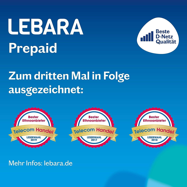 Lebara - Tarjeta SIM prepago con 30 Euros Inicio: Amazon.es ...