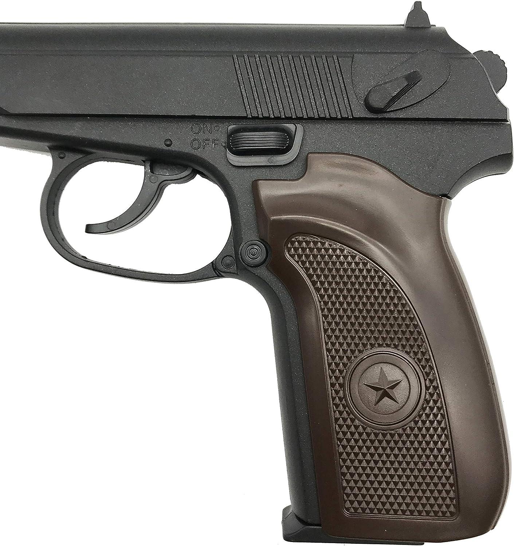 Farbe: Schwarz, Federdruck Rayline RV303 Schwarz Metall Softair Pistole unter 0,5 Joule - ab 14 Jahre Gewicht 350 g 6mm Kaliber