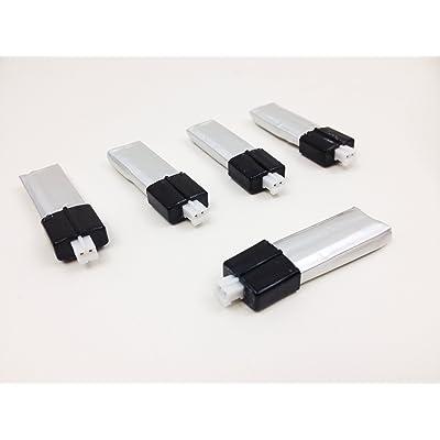 WL V911 Helizone Lightningbird battery - 5 pcs combostandard size &new connector 130 mah by Helizone RC: Toys & Games