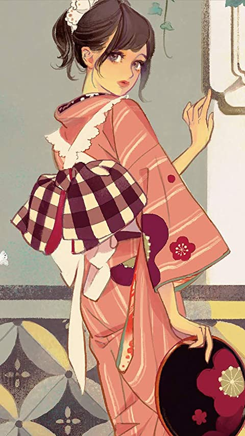 マツオヒロミ JAPONISME マツオヒロミ絵暦 二〇一九 XFVGA(480×854)壁紙画像