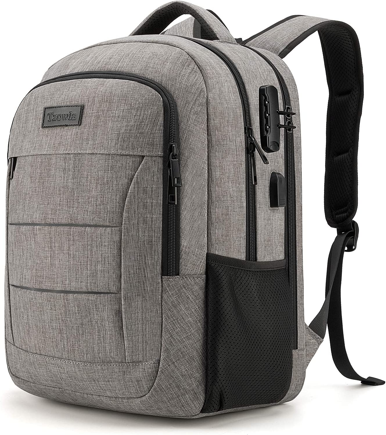 Travel Laptop Backpack Water Resistant Anti-Theft Bag with USB Charging Port and Lock 17.3 Inch Computer Business Backpacks for Women Men College School Student Gift,Bookbag Casual Hiking Daypack