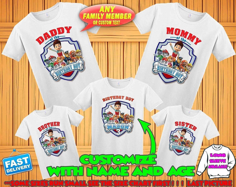 Amazon Paw Patrol Birthday Shirt Paw Patrol Custom Birthday