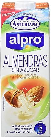 comprar Alpro Central Lechera Asturiana Bebida de Almendra Sin Azúcar - Paquete de 8 x 1000 ml - Total: 8000 ml