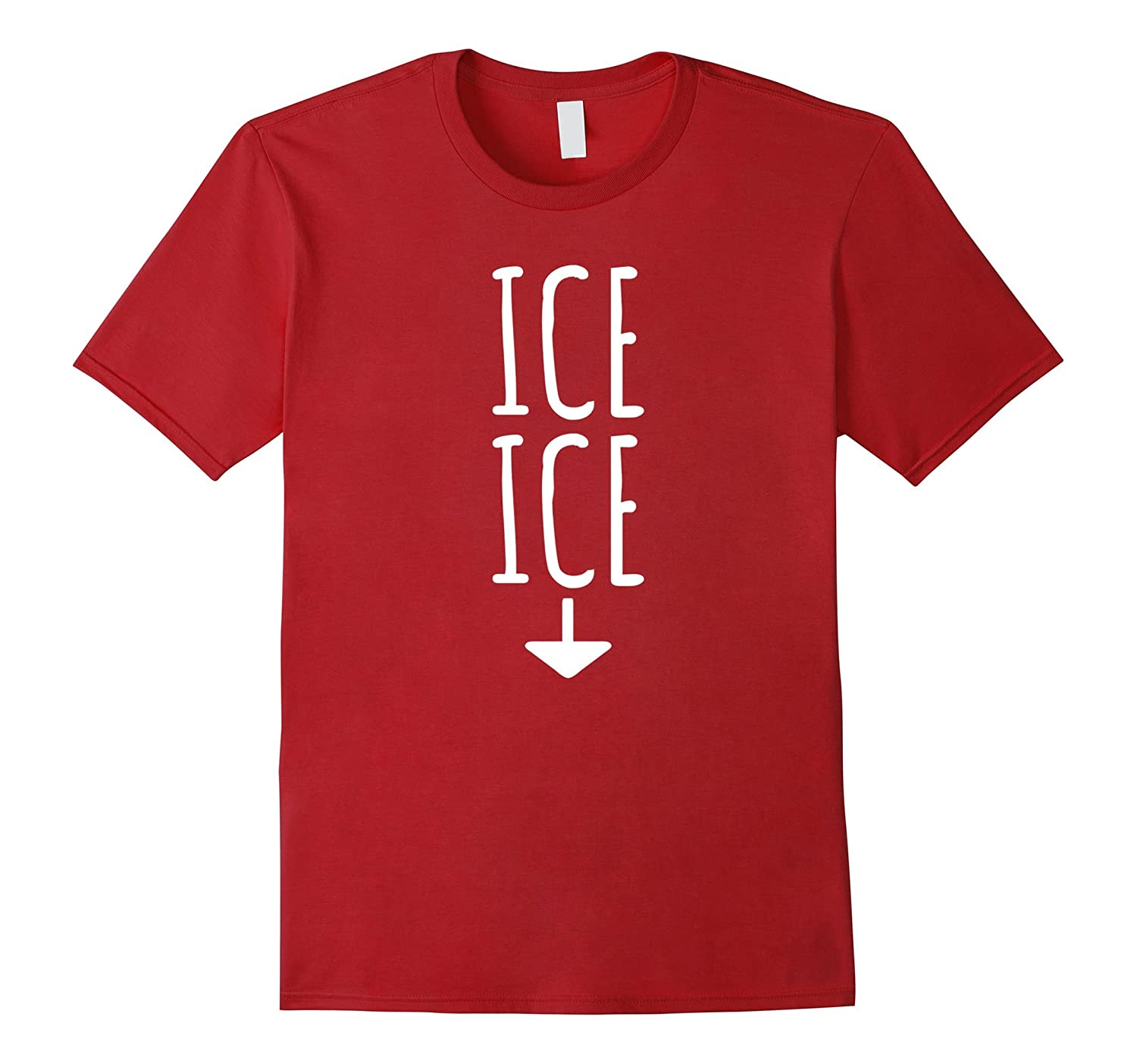 Ice Twice Pregnancy Announcement Funny T-Shirt-FL