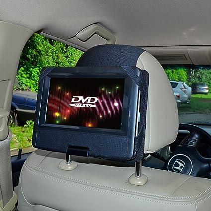 tfy car headrest mount for swivel flip dvd player kids security hands free