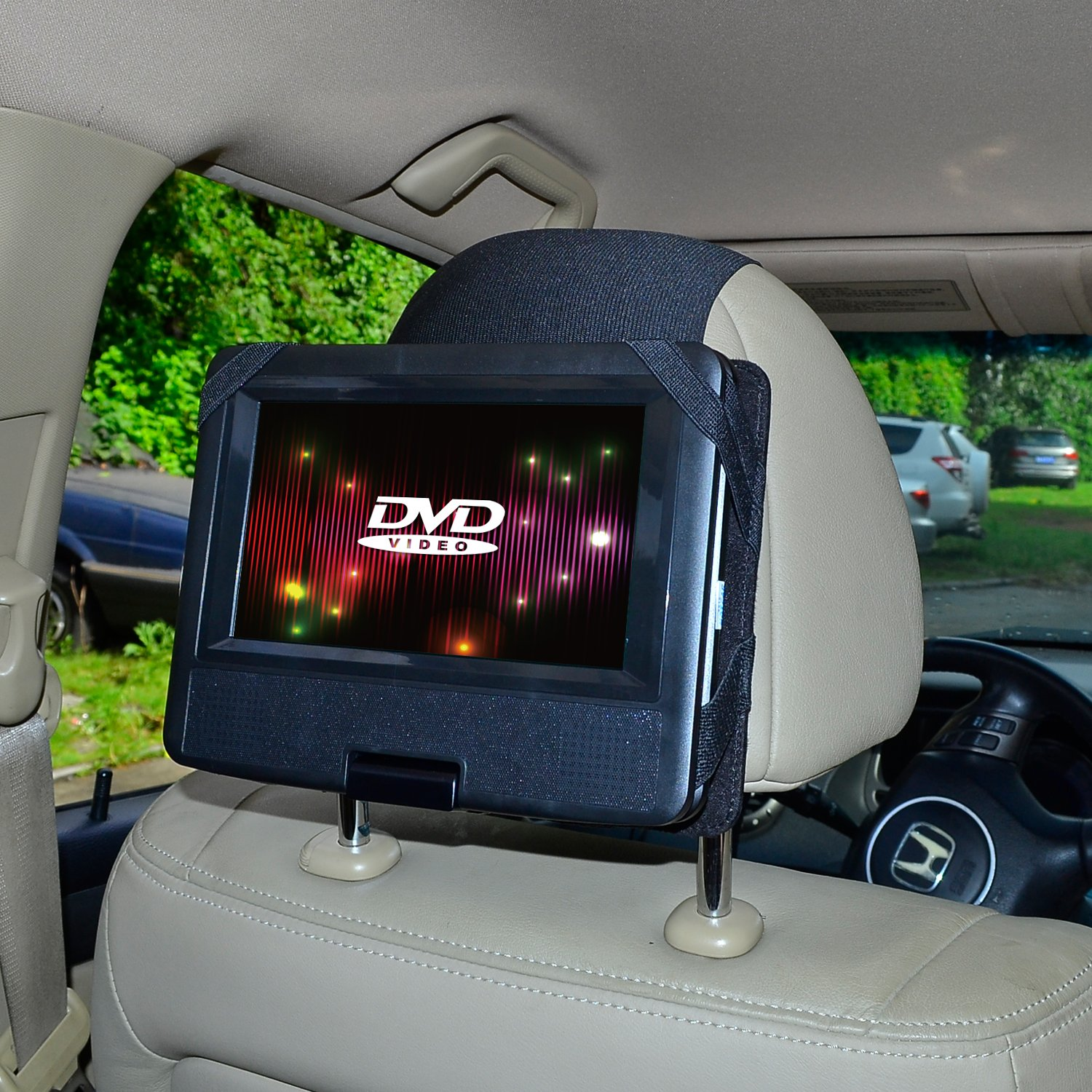 TFY Car Headrest Mount for Swivel & Flip DVD Player-7 Inch (CANNOT fit the Sylvania SDVD7027 7-Inch Portable DVD Player)
