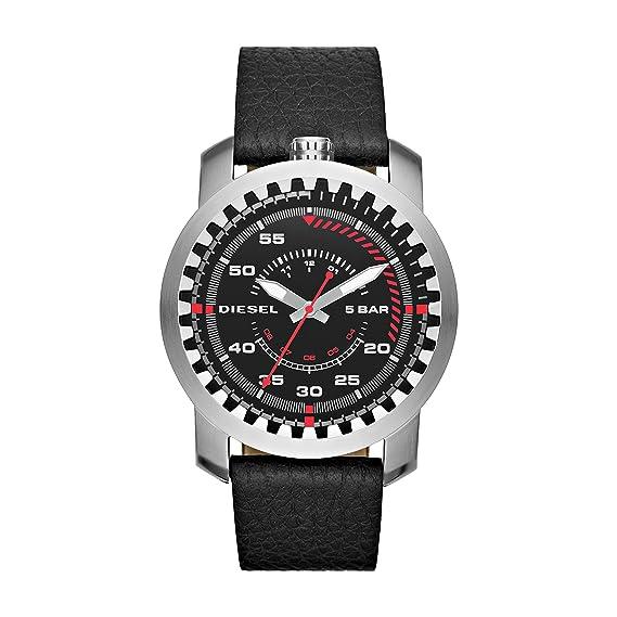 0dd33e1a9fd8 Diesel Reloj analogico para Hombre de Cuarzo con Correa en Piel DZ1750   Amazon.es  Relojes