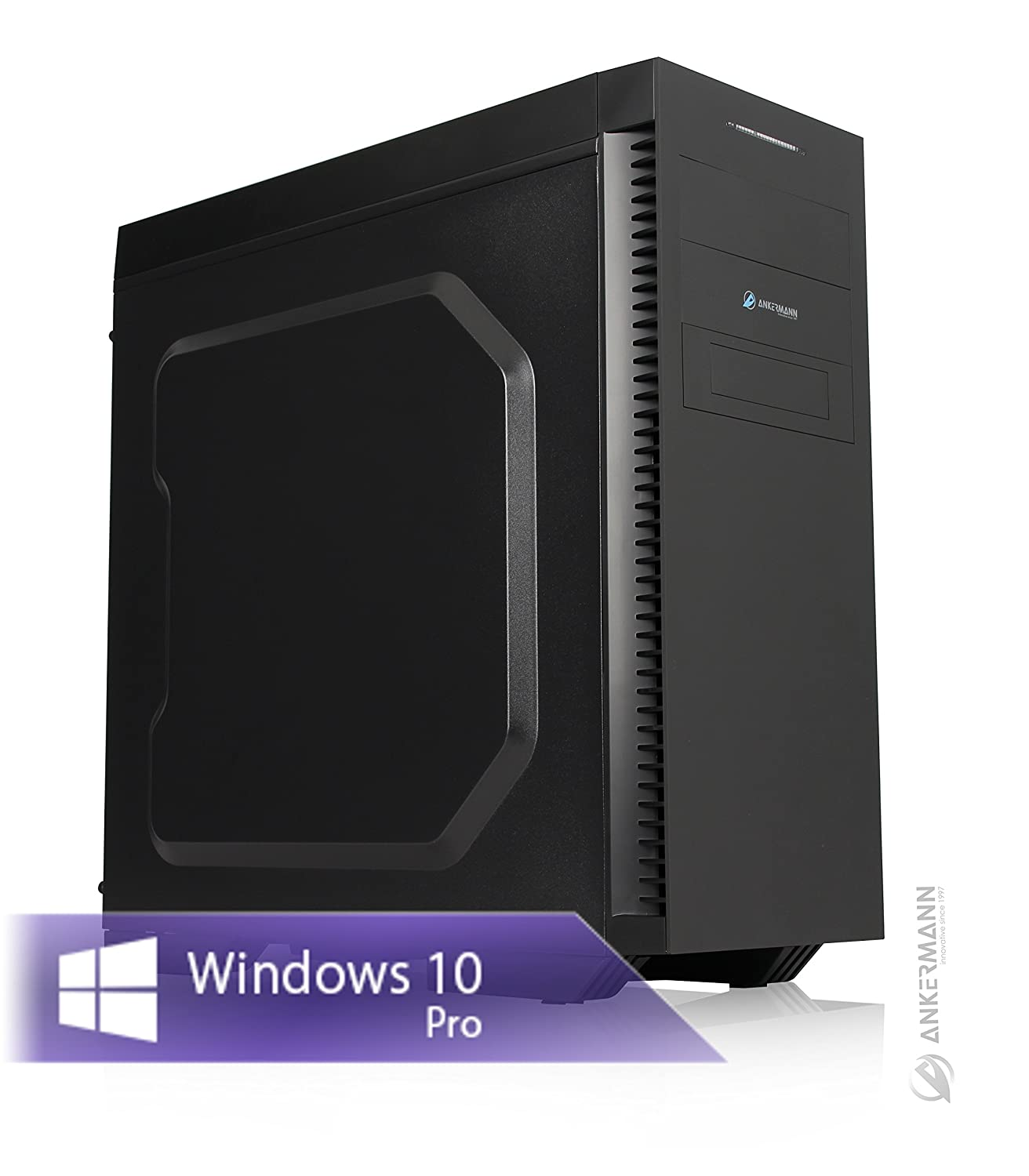 Ankermann Digital Audio Workstation PC Garanzia di 24 mesi, Intel i7-8700 6x3.2GHz GeForce GTX 1050 Ti 4GB 4K 32GB RAM 250GB SSD 2TB HDD Windows 10 PRO Ankermann-PC