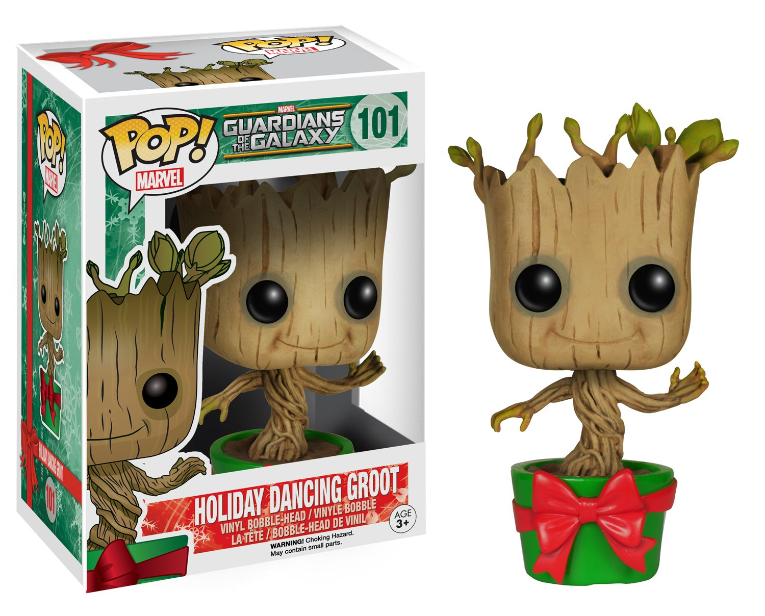 Marvel- Figura de Vinilo Holiday Dancing Groot, colección Guardians of The Galaxy (Funko 6196)