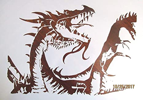 amazon com outletbestselling reusable sturdy dragon stencil