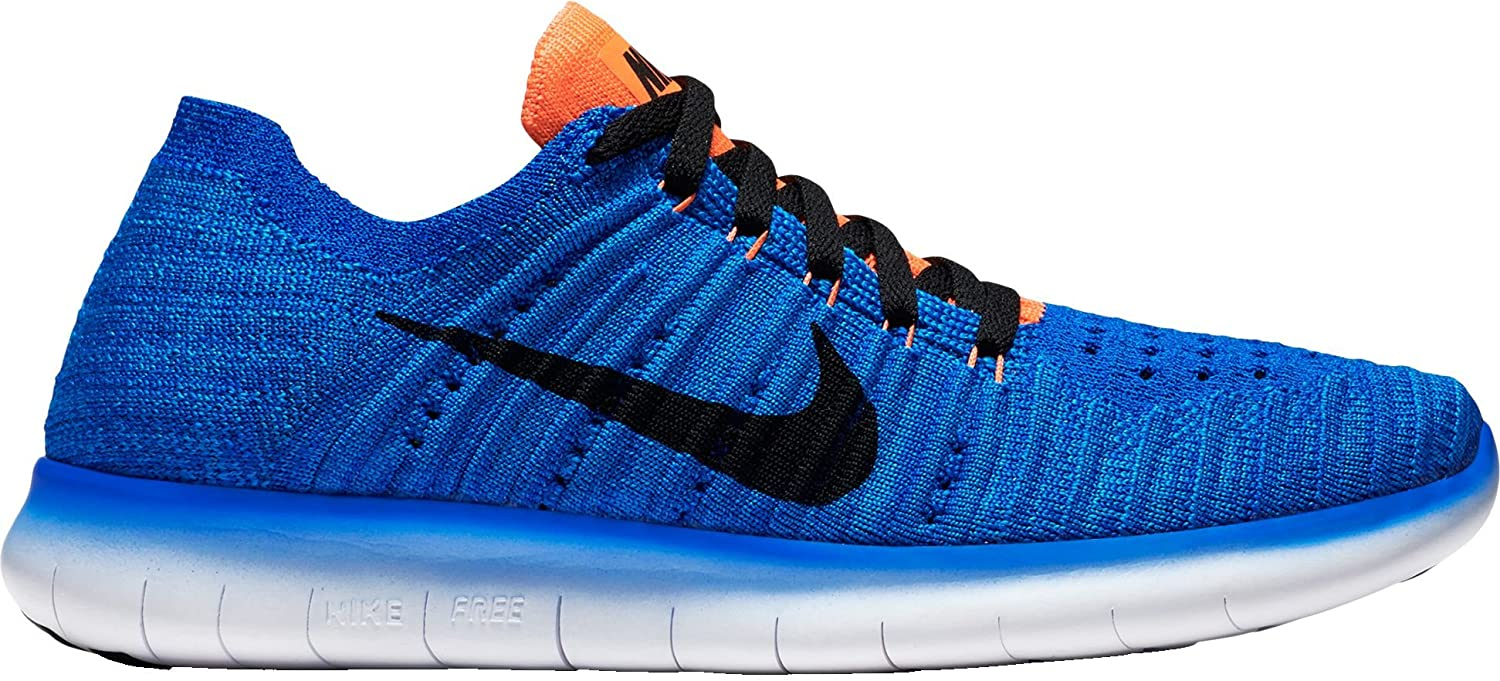 uk availability 5cf36 a727c Nike Kids  Grade School Free RN Flyknit Running Shoes(Racer Blue Black, 6.5  Big Kid M)  Buy Online at Low Prices in India - Amazon.in