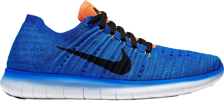 8b77a3b8e7c Nike Kids  Grade School Free RN Flyknit Running Shoes(Racer Blue Black