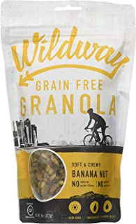 product image for Wildway Keto, Vegan Granola | Banana Nut | Certified Gluten Free Granola Breakfast Cereal, Low Carb Snack | Paleo, Grain Free, Non GMO, Dairy Free, No Artificial Sweetener | 8oz, 3 pack