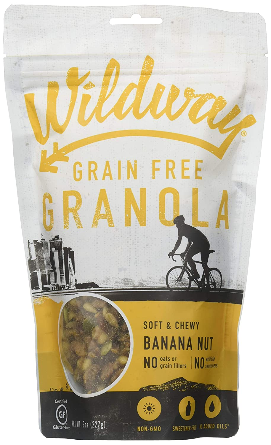 Wildway Keto, Vegan Granola | Banana Nut | Certified Gluten Free Granola Breakfast Cereal, Low Carb Snack | Paleo, Grain Free, Non GMO, Dairy Free, No Artificial Sweetener | 8oz, 3 pack