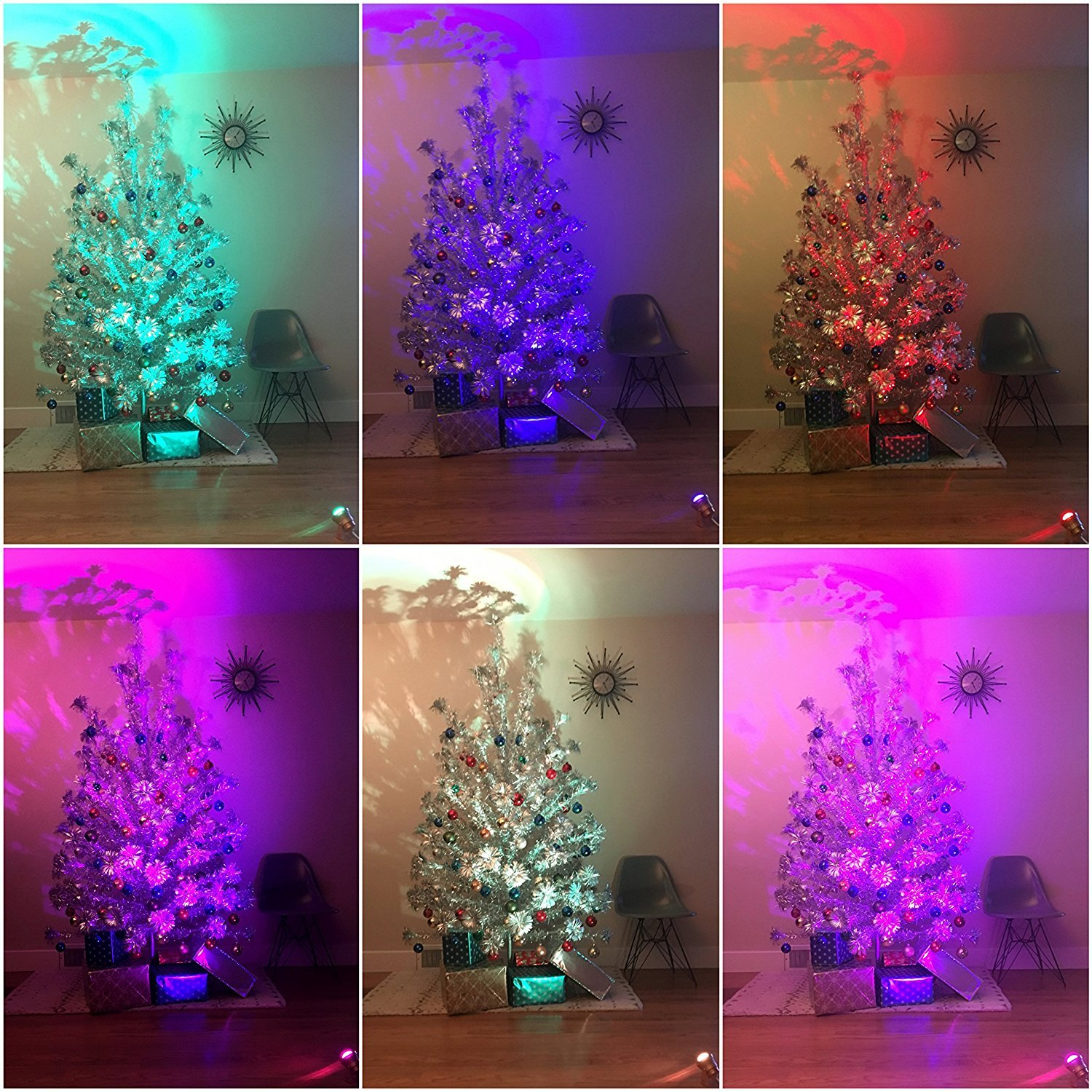 TreeTronics Color Wheel 2.0 – For Vintage Aluminum Christmas Tree - Mid Century Modern – Artificial Retro, Silver MCM XMAS (Rose Gold)