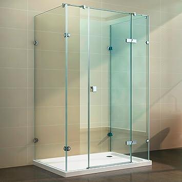 Cabina de ducha Ducha U forma u Mampara Nano templado de 8 mm de revestimiento: Amazon.es: Bricolaje y herramientas