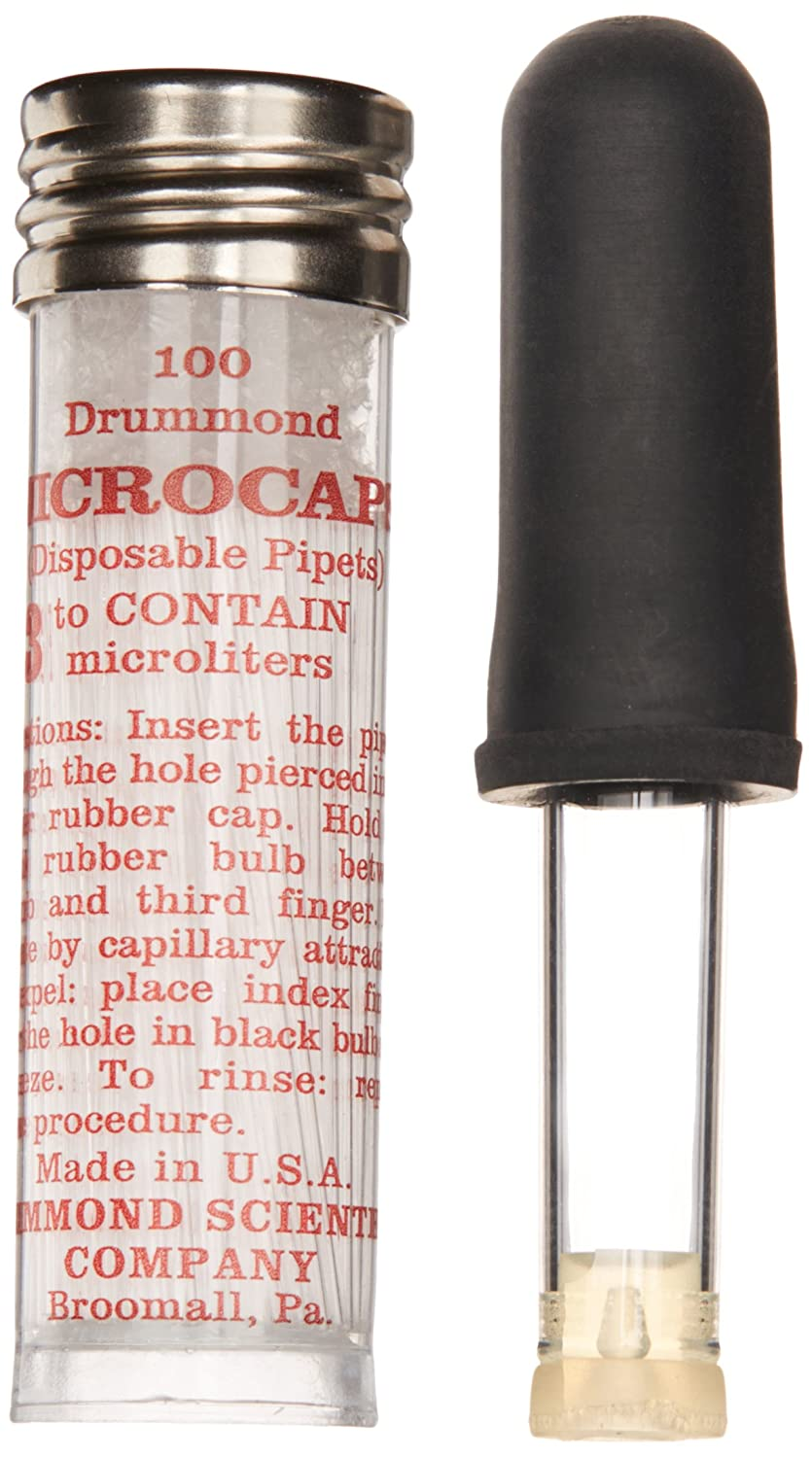 Drummond Scientific Microcap 1-000-0030 Microliter Pipets, 3µL Capacity (Pack of 100)