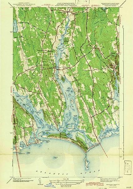 Amazon.com: Maryland Maps | 1942 Westport, MD USGS Historical ...