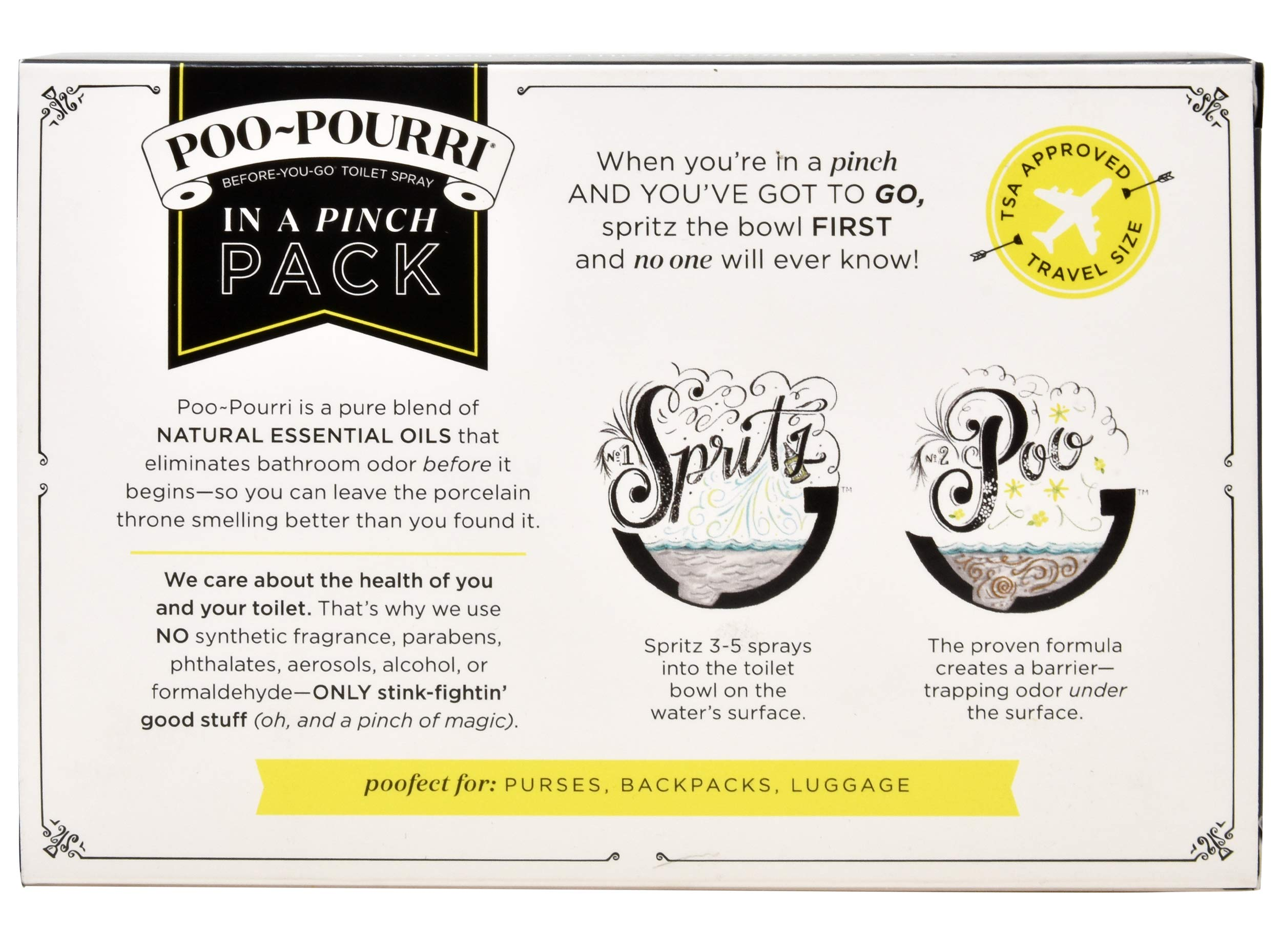 Poo-Pourri in A Pinch Pack Toilet Spray Gift Set, 5 Pack 10 mL, 1.4 Ounce Original Bottle and Bottle Tag Included by Poo-Pourri (Image #5)