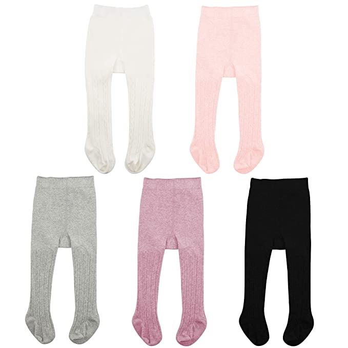 Durio Baby Girl Tights Cute Baby Tights for Girls Infant Toddler Girl Leggings Pants Stockings